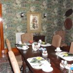 The breakfast table just down the hall