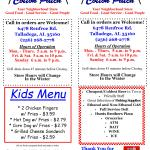 Front/Back/Kids Menu