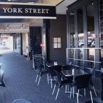 Entrance of the York Street cafe