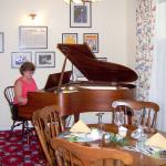 Music wall in the Dining Room