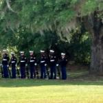 Taken at Beaufort National Cemetery on 5/9/2016.  U.S. Marine Corps honor guard.