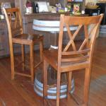 One-of-a-kind Wine Barrel Table