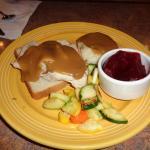 This is Open Faced Turkey Sandwich - WHAT A JOKE!