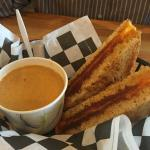 grilled cheese & lobster bisque