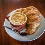 Coffee, tea,hot chocolate ?.. and  a croissant ?