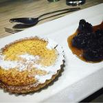 Custard tart with Earl Grey soaked prunes