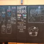 Steakout's drinks menu