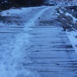 Final de la pista de ski