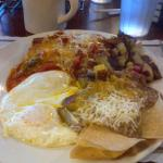 Relleno with Eggs, Refried Beans and Potatoes