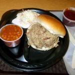 Pork BBQ platter
