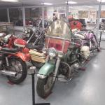 The place is packed with old motorcycles