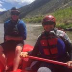 On the Rio Grande River with Santa Fe Rafting / Zack is the best!