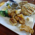 Grilled chicken breast with Greek potatoes