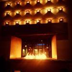 Roaring lobby fireplace. ©Jason Z. Guest, jzguest