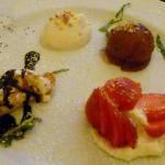 4. Gang des Vier-Gänge-Überraschungsmenüs: Dessertteller