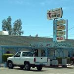The restaurant front, right one highway 178 in downtown Inyokern.