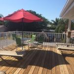 Sundeck that is shared with one other room