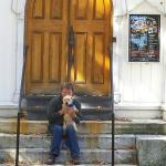 Mark, Moxie & Moi just stopping by the Old Trinity Church / Guthrie Center Columbus Day Weekend
