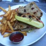 Turkey Club House and fries