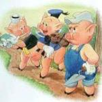 the three little piggys always find their way to front street market