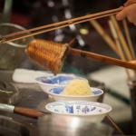 傳統竹簍麵切煮麵