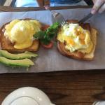 Eggs Benedict on gluten free bread