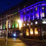 Wynn's Hotel at night (green lights)