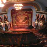 The opera house stage with turn curtain down!