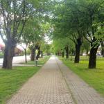 Public Walkway opposite hotel