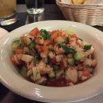 Wonderful Pollo Poblano, Ceviche, guacamole and amazing margaritas