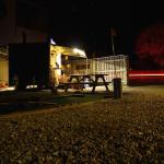 Trailer at night
