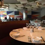 Well lit modern dining room
