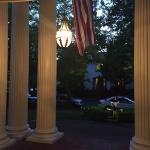 Columns by front door