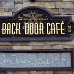 Back Door Cafe for a fine dinner