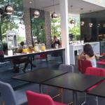 Club benefits for all day refreshments and beautiful variety of fresh food