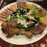 Plate of goose and duck goodies