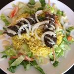 Kofta served over Saffron Rice w/ Veggies and house made Tahini Sauce