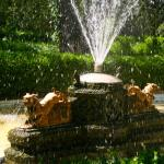 largest fountain on the property