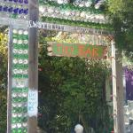 Tiki Bar made of bottles
