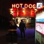 hot dog stall in city centre