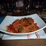 Penne Pasta Spanish chorizo, sautéed broccoli rabe, fire roasted tomato, garlic white wine sauce