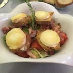 Bacon Salad with Camembert cheese!!!! Delectable!