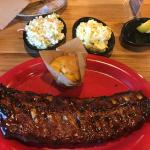 Ribs and corn bread