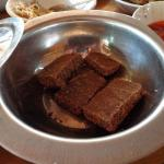 the dessert...a sweet and sour brownie