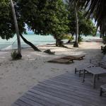 ponton privé sur la plage