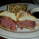French dip and grilled pork tenderloin