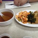 soup & kimchi, nori and potatoes