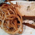 Chicken salad sandwich, excellent bread.