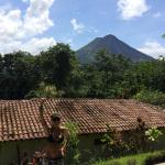 View of the volcano from our beautiful peaceful zen hotel.