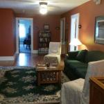 These photos show the dining area, lounge and Riverview room.